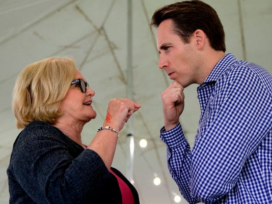 U.S. Sen. Claire McCaskill and Missouri Attorney General Josh Hawley