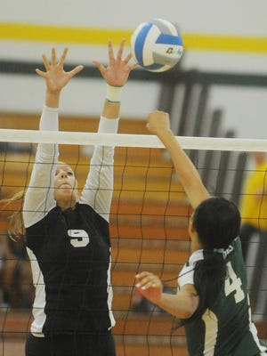Senior Stefanie Jankiewicz is one of the state's top players and a Miss Volleyball candidate.