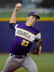 Indianola pitcher Duncan Davitt Indianola pitcher Duncan Davitt (23) winds up for a pitch Friday during the first round sub-state baseball game between Indianola and Ottumwa at Indianola High School.