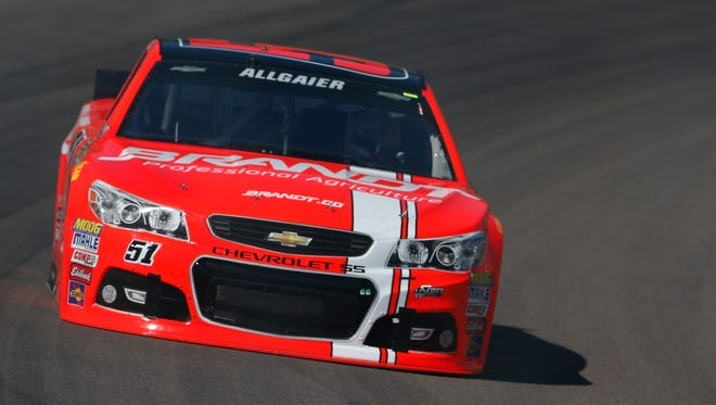 Justin Allgaier had a crew member ejected during Sunday's race at Talladega Superspeedway.