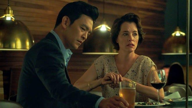 """John Cho and Parker Posey in """"Columbus."""""""