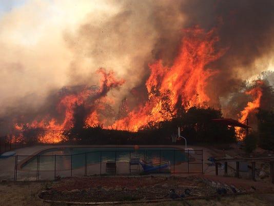 Hilltop fire