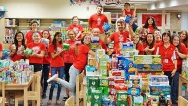 Edgewood students collected more than 15,000 cans.
