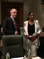 Monica George Fields and John Sipple enter the Regents