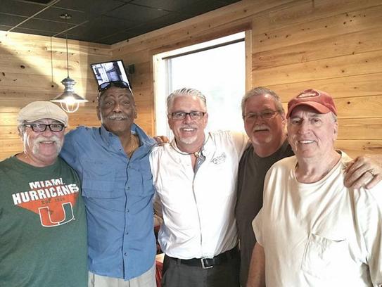 James Pagano, left, Calvin Lawrence, Kevin O'Neill,