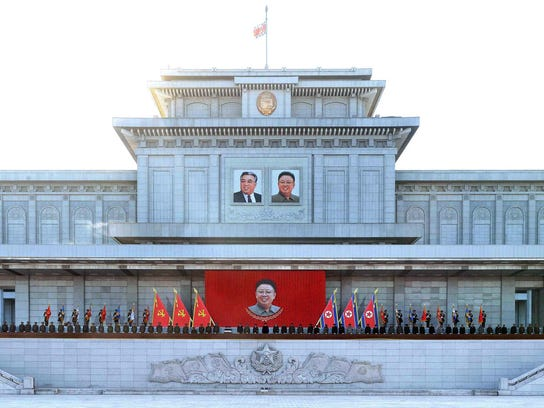 This picture taken by North Korea's official Korean