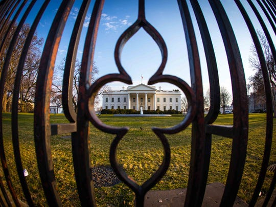A unique perspective of the White House was photographed by one contributor in Washington, D.C.