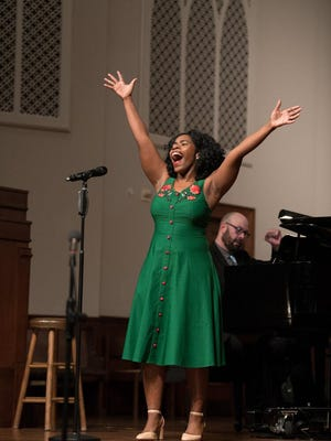 In the photo, Jasmine Habersham performs during an ATC competition. All Porch Party tickets can be purchased online at https://americantraditionscompetition.com/tix.
