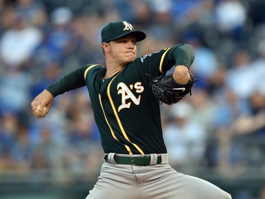 MLB: Oakland Athletics at Kansas City Royals