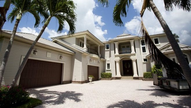 Larry Bird's mansion in Naples on July 5, 2016. The property has been on the market for roughly 2 years, and now is selling for $4.6 million, versus the previous $4.8 million.