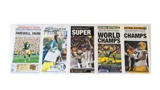 Famous Football front page reproductions