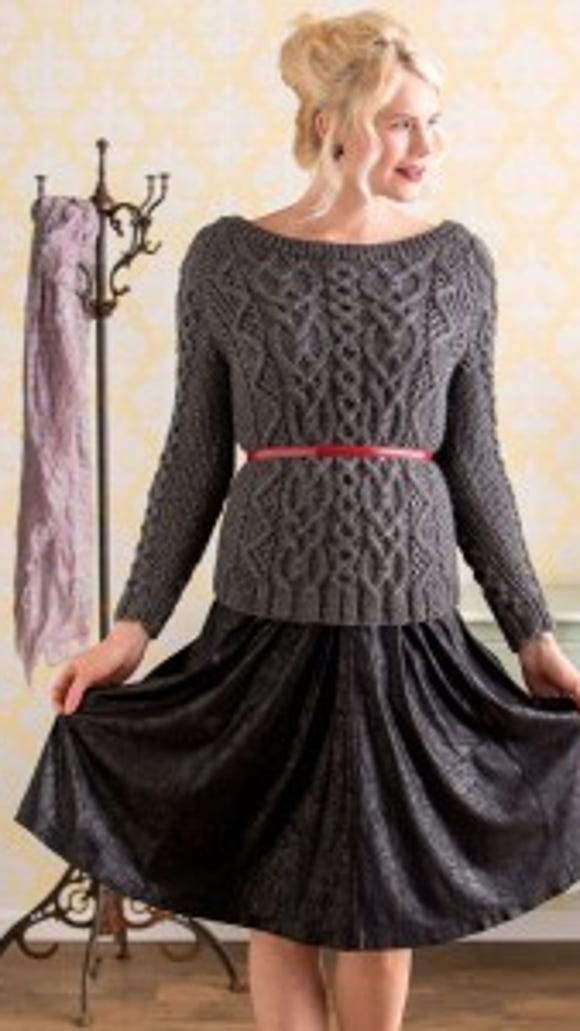 I love how the Salzburg sweater takes a traditionally casual daytime design and transforms it into evening wear.