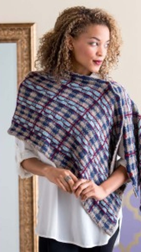 If you like knitting plaids, this Falkirk Wrap has a lovely plaid pattern.