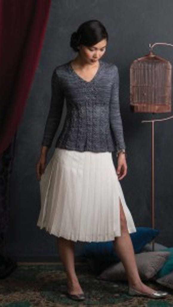 Idrill is a cabled a-line sweater that I think would be flattering on just about any body type.