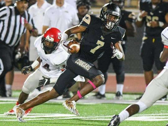 Northwest Rankin receiver Jarrian Jones (7) gets loose