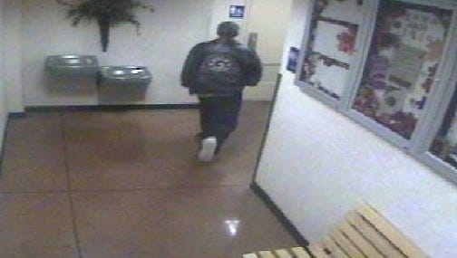 This man is accused of robbing a person in a Liberty Township Kroger Monday.