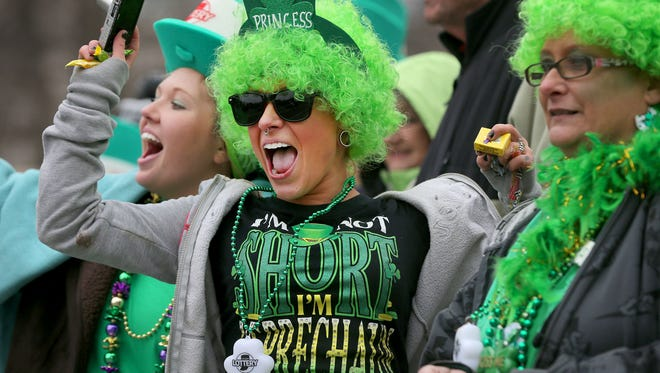 The 34th Annual St. Patrick's Day Parade kicks off at 11:30 a.m. on North and Pennsylvania streets on March 17.