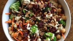 Tahini Broccoli Salad is a delicious melange of nutritious