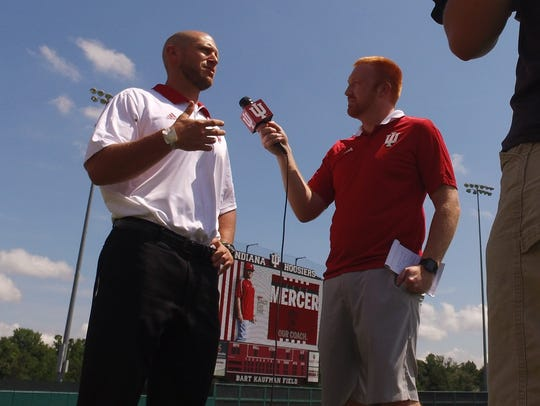 IU baseball coach Jeff Mercer. July 3, 2018