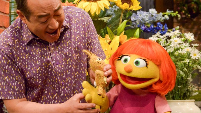 Julia is a new character, who has autism, on Sesame Street.