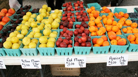 Some of the fresh produce at the Westside Farmers Market, 831 Genesee St.