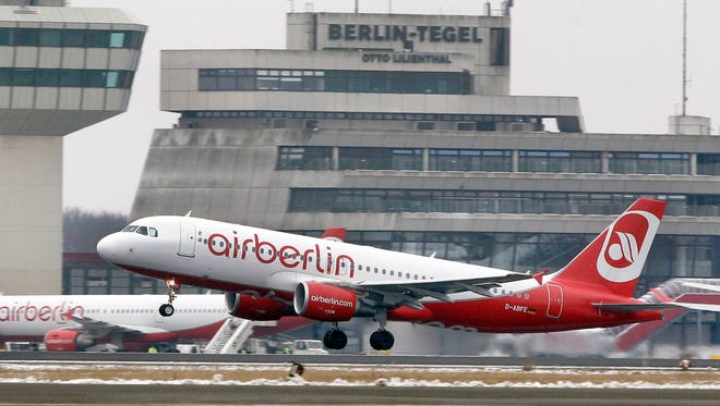 An Airberlin plane takes off at Berlin's Tegel Airport on Jan. 20, 2013.