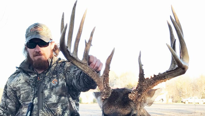 Josh Clark's Canemount WMA 18-point unofficially grossed over 200 inches and is potentially a new state record for a typical buck harvested with a firearm.