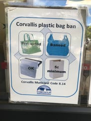 Corvallis has instituted plastic bag ban, but allows