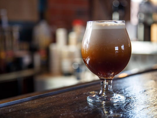 A nitro iced coffee at 1884 Coffee Co. Wednesday, March