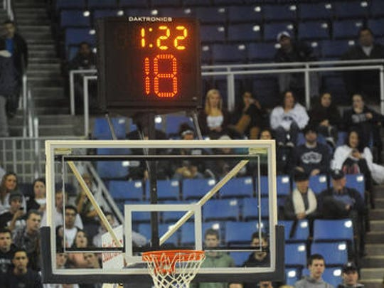 Some college basketball coaches and officials advocate lowering the shot clock from 35 seconds to 30 or less to speed up the game and increase scoring.