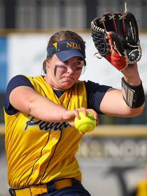 Haylee Smith pitches for Notre Dame.
