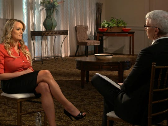 Stephanie Clifford during an interview with Anderson