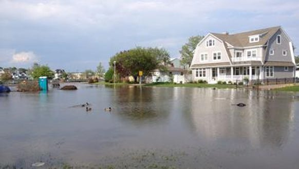 Flooding along Silver Lake in Belmar following a June 2013 rainstorm