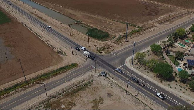 Surprise's 2017 bond proposal includes $7 million to create a total of six lanes on Waddell Road between Loop 303 and Reems Road, add a traffic signal at the intersection of Waddell and Sarival Avenue (pictured), along with bike lanes and sidewalks.