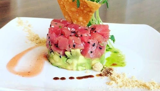 Watermelon tuna tartare is a new menu item at Doc Magrogan's in Dover.