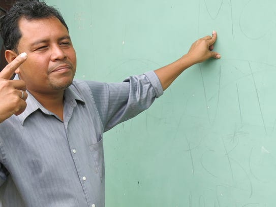 Danny Pacheco, an Evangelical pastor in San Pedro Sula,