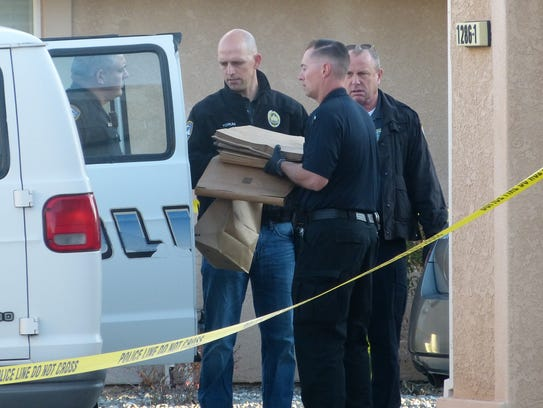 Redding Police officers collect evidence at Heavenly