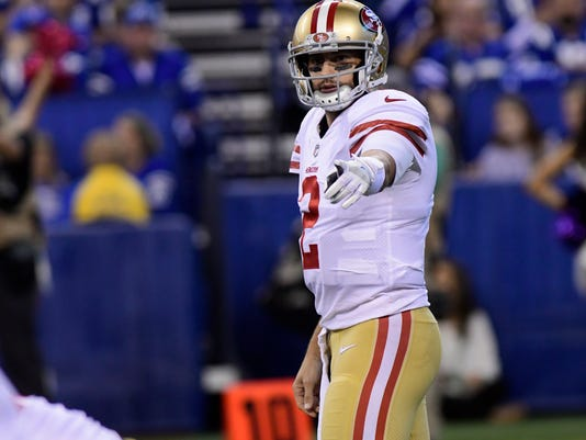 USP NFL: SAN FRANCISCO 49ERS AT INDIANAPOLIS COLTS S FBN IND SF USA IN