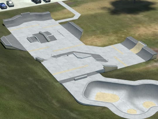 A rendering of the skate park under construction at Kiwanis Park in Sheboygan.