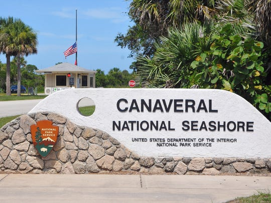 Entrance of the Canaveral National Seashore.