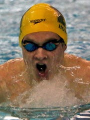 Henry Bauer is one of five state swimming and diving