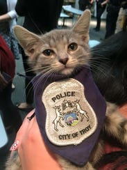 The Troy Police Department introduces Pawfficer Donut