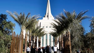 The Gilbert Arizona Temple of The Church of Jesus Christ of Latter-day Saints.