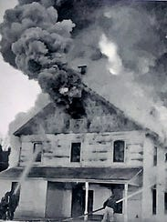 The main building of the Bath Fish Hatchery burned