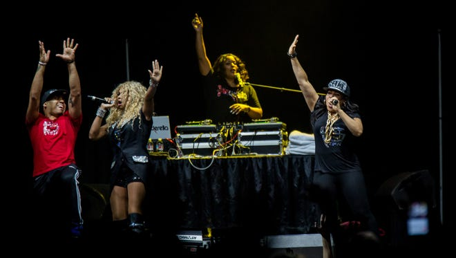 Salt N Pepa perform at the I Love the '90s Tour in Phoenix