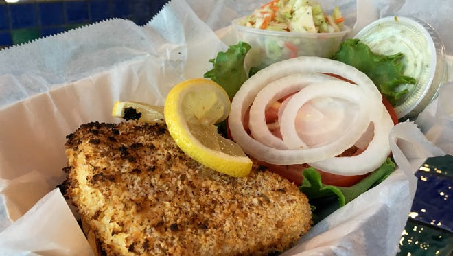 The crispy grouper sandwich is a Hot Dish from Island Seafood on Matlacha.