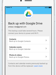 Back up your information with Google Drive