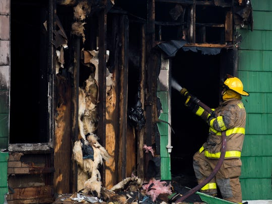 Millville firefighters respond to a blaze on Newcombtown