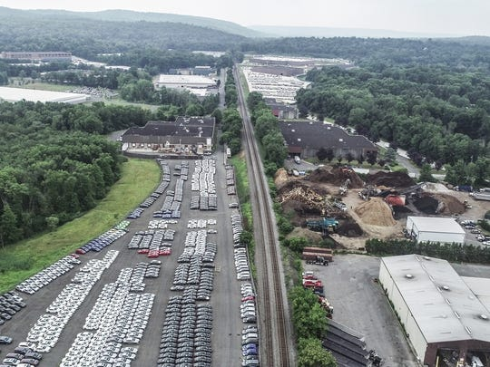 Aerial images of the area near Pineview Road in West Nyack on Tuesday, July 17, 2018.