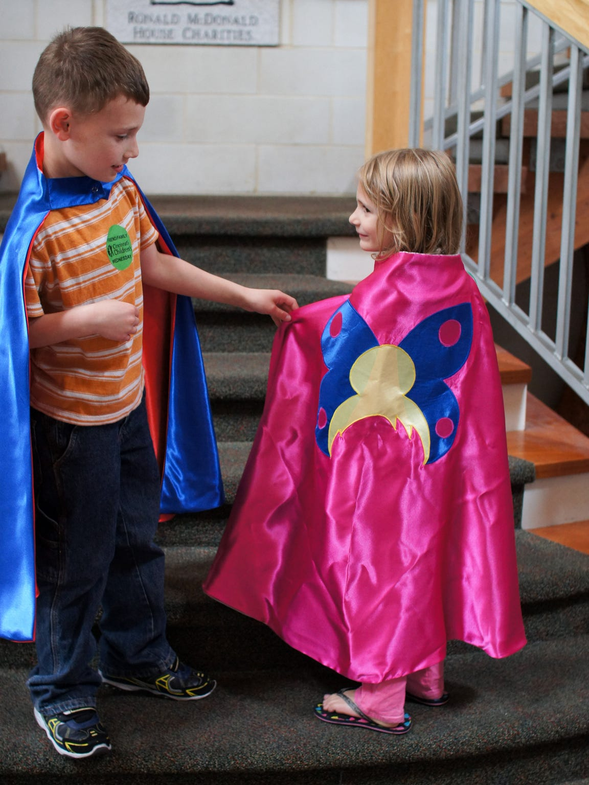 The Hero Design Company program made capes for Joseph